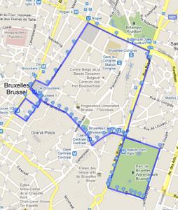 Lauf um den Parc de Bruxelles